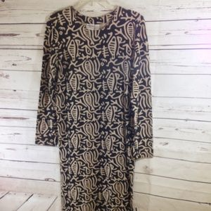 Chico's Design Tribal Print Long Sleeve Maxi Dress